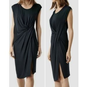 All Saints Twist Front Sleeveless Dress